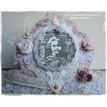 Gummi Stempel, Romantic Vintage-Thank you