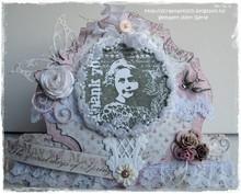 Marianne Design Gummi Stempel, Romantic Vintage-Thank you