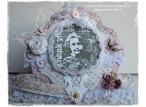 Marianne Design Gummi stempel, Romantisk Vintage Tak