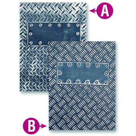 embossing Präge Folder Prägeshablone plast M-Bossabilities med 2 motiver