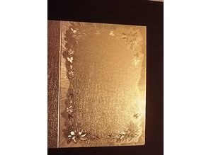 KARTEN und Zubehör / Cards 3 double cards in metal engraving, color metallic gold