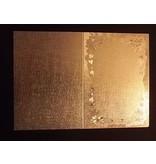 KARTEN und Zubehör / Cards 3 tarjetas dobles en grabado en metal, metálico del color oro