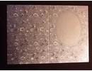 KARTEN und Zubehör / Cards 3 Doppelkarten in Metallgravur, farbe metallic silber