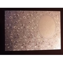 3 Doppelkarten in Metallgravur, farbe metallic silber