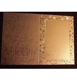 KARTEN und Zubehör / Cards 3 Doppelkarten in Metallgravur, farbe metallic gold