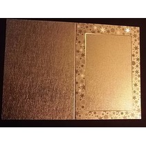 3 Doppelkarten in Metallgravur, farbe metallic gold