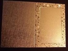 KARTEN und Zubehör / Cards 3 carte doppie di incisione in metallo, oro colore metallizzato