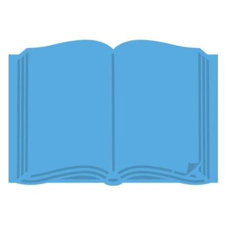 Marianne Design Stansning og Prägeschaqblone, Open Book, LR0253