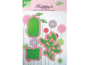 Joy!Crafts und JM Creation Template Flowers for Friends, 61,5 x 69,5 37,5 x33 30x58, 5 mm