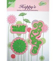 Joy!Crafts und JM Creation Template With Love & Flowers, 38,5 x 100 53,5 x24, 5 45,5 x45, 5 mm