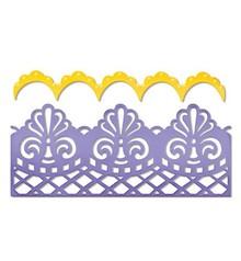 Sizzix Sizzix, taglio template, damasco e capesante Borders, 16,19 x 10,80 centimetri