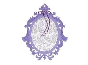 Sizzix Sizzix, cutting template, frame, Ornate Oval, 13.97 x 11.11 cm