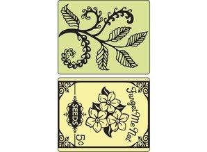 Sizzix Embossing folders, Ferns & Seed Packet, 2 folders, 11,43 x14, 61cm
