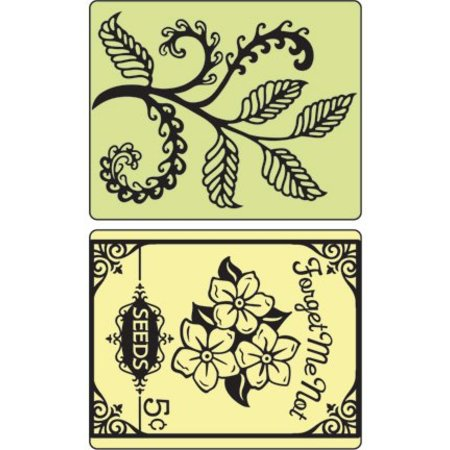 Sizzix Carpetas de grabación en relieve, Helechos y paquetes de semillas, 2 carpetas, 11,43 x14, 61 cm