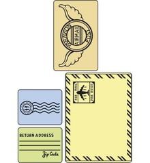 Sizzix Embossing folders, set mail, Folder 4.
