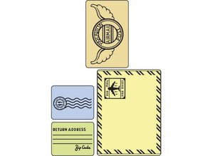 Sizzix Embossing folders, set mail, Folder 4, 11,43 x14, 61cm - 5,72 x7, 30cm