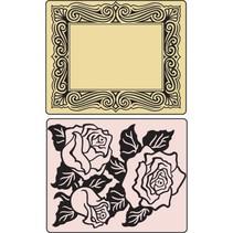 Prägefolder, Roses & Frame, 2 Folder.