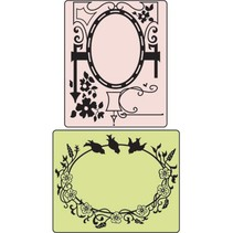 Embossing mapper Bird & Garden Gate, Mappe 2.