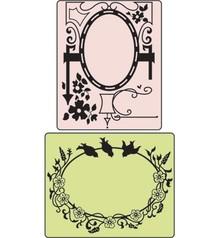 Sizzix Embossing folders, Bird & Garden Gate, Folder 2.