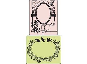 Sizzix Carpetas de grabación en relieve, del pájaro y del Garden Gate, carpeta 2, 11,43 x14, 61 cm