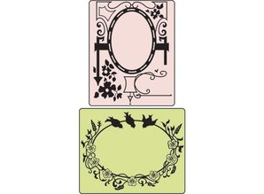 Sizzix Embossing mapper Bird & Garden Gate, Mappe 2, 11,43 x14, 61cm