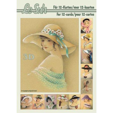 Bücher und CD / Magazines 3D Book A5, kvinder med hat