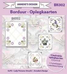 KARTEN und Zubehör / Cards 3 layout della carta stampata, 3 buste