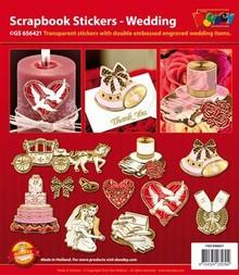Sticker Scrapbog klistermærker bryllup.