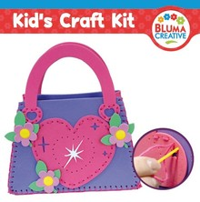 Kinder Bastelsets / Kids Craft Kits Craft Kit: Heart Bag for Kids
