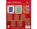 Sticker Scrapbog klistermærker fødselsdag.