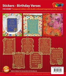 Sticker Scrapbook stickers birthday.