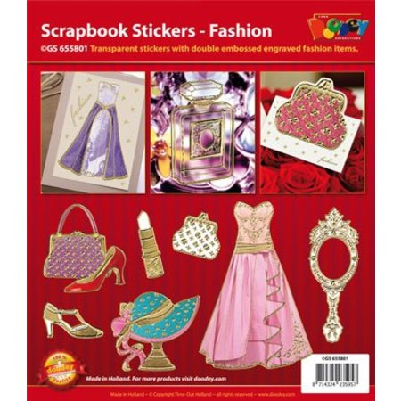 Sticker Scrapbook stickers Fashion - Fashion, 20x23cm, i guld.