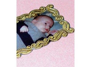 Sticker Scrapbook, embossed stickers, decorative frame