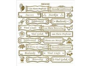 Sticker Stickers with Dutch text, 20 x 23cm, gold