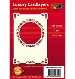 KARTEN und Zubehör / Cards 3 Luxury card layer A6 circle with corners, 10,5 x 14,85 cm