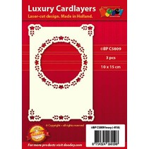 3 Luxury card layer A6 circle with corners