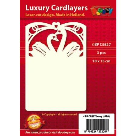 KARTEN und Zubehör / Cards Lujo 3 tarjeta de presentación A6, 10,5 x 14,85 cm, de la boda - motif cisne