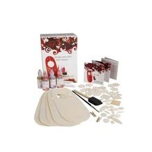 Objekten zum Dekorieren / objects for decorating at male Bastelset for 5 Door Plader lavet af træ og dekorere