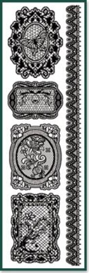 Embellishments / Verzierungen Strofinare su punte nere.