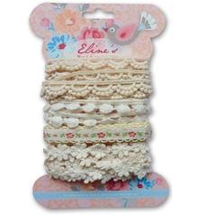 DEKOBAND / RIBBONS / RUBANS ... Marianne Design, Eline's ribbons white, 4x1,9mtr