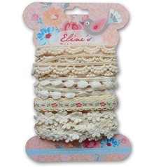 DEKOBAND / RIBBONS / RUBANS ... Marianne Design Eline's white ribbons, 4x1, 9mtr