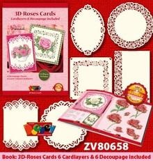 KARTEN und Zubehör / Cards Håndværk bog for design af 6 romantiske kort.