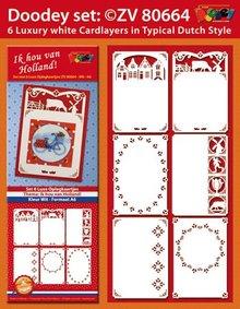 KARTEN und Zubehör / Cards Un set di 6 Scheda di lusso topper A6, 10,5 x29, 7cm.