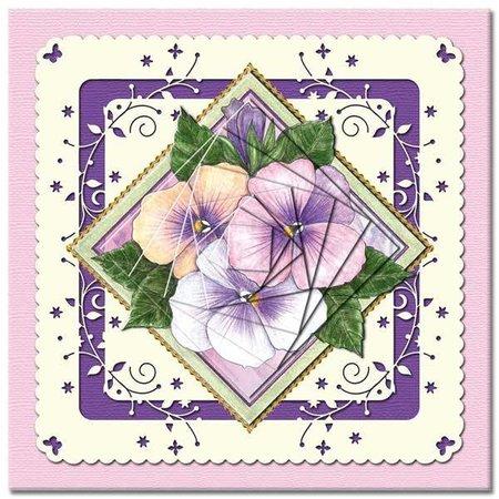 KARTEN und Zubehör / Cards Bastelbuch + Decoupage ark + 6 Luxury card layouts + 3D Pyramide Flowers