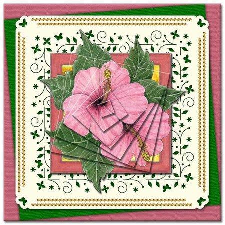 KARTEN und Zubehör / Cards Bastelbuch + Decoupage Blätter + 6 Luxus Kartenlayouts + 3D Pyramid Blumen