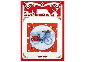 KARTEN und Zubehör / Cards 6 Luxury card layer A6 butterfly circle, 10.5 x 29.7 cm.