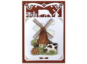 KARTEN und Zubehör / Cards 6 Luksus kortlaget A6 sommerfugl cirkel, 10,5 x 29,7 cm.