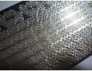 Sticker Adesivi, bordi, foglia d'oro, specchio d'argento, 10x23cm.