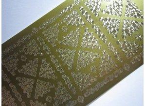 Sticker Stickers, Small 2 corners, gold gold, 10x23cm.