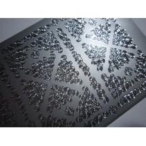 Pegatinas, 2 pequeños rincones, gris plata, 10x23cm.